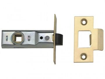 Tubular Mortice Latch 2648 Polished Brass 64mm 2.5in Visi